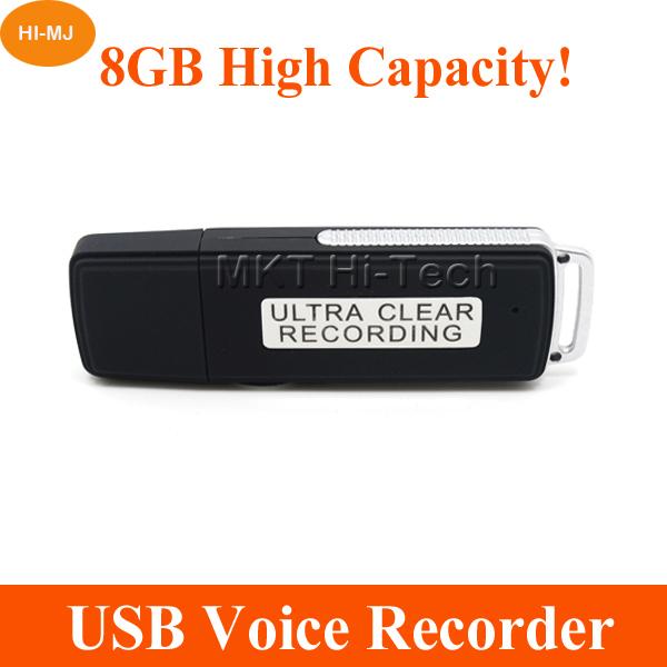 8GB Digital Voice Recorder Professional Spy Hidden Mini Dictaphone USB Flash Drive Sound Audio Recorder Pen 150 Hours WAV Files(China (Mainland))