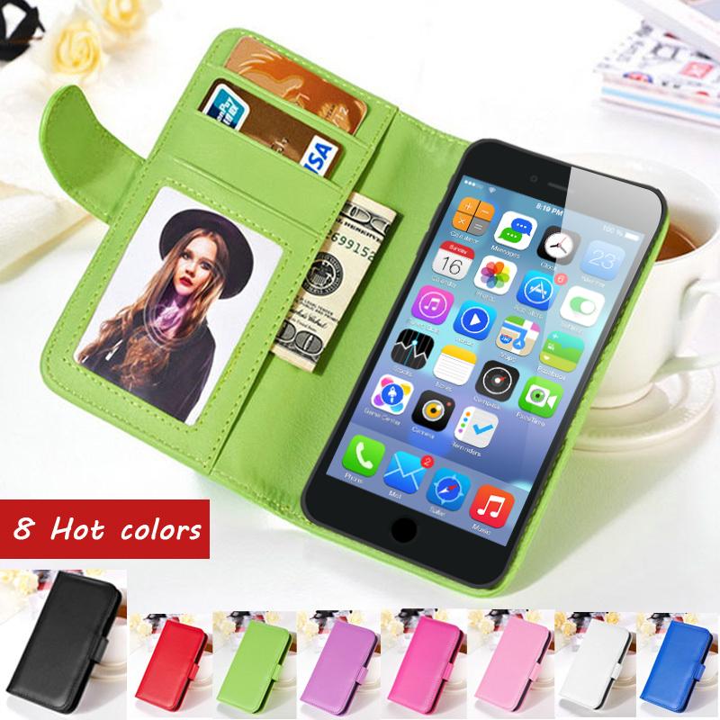 flip carteira pu couro case para iphone 6 4.7 polegadas para iphone 6 plus