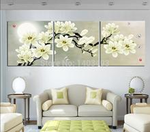 Venta caliente 3 paneles moda para el hogar nuevo año Navidad decoración del arte pared Pintura Óleo Cuadros 50cm * 50cm impresas en lienzo(China (Mainland))