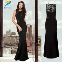Black 2014 New Fashion Embroidery Long Evening Dress Gowns Vintage Elegant Mermaid Dress Celebrity Vestido De Festa Longo HW0228