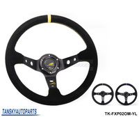 "Tansky - Modified steering wheel Suede leather steering wheel automobile race steering wheel 14""steering wheel TK-FXP02OM"