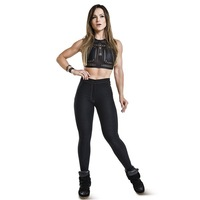 Yomsong New Arrival High Waist Cowboy Imitation Jeans Leggings Ladies Fashion Sports and Fitness Push up Hips Gym Yoga Pants