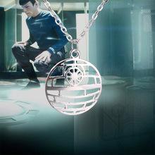 Cupid Fashion Jewelry Logo Star Trek Star Wars Death Star Pendant Necklace Movies Jewelry Free Shipping