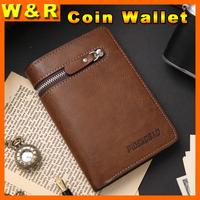 2015 new brand wallet men medium-long wallets organizer carteira brown famous men zipper coin purse with 14 card slots monederos