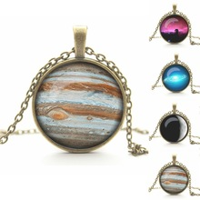 Vintage Universe Cabochon Galaxy Necklace & Pendant Chain Necklace New Brand Women Men Lovely Gift Cheap-fine