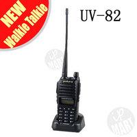 FS!BaoFeng UV-82 UV82  Walkie Talkie Transceiver Dual Band Two Way Radio 136-174Mhz&400-520Mhz Interphone Free Earphone 2pcs/lot