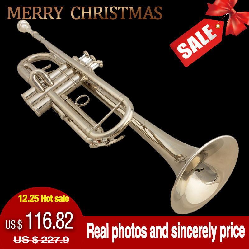 Versandkostenfrei trompete jbtr- 300 Gold/Silber trompete musikinstrument/corneta/trompeta/fallen Melodie b instrumentos musicais