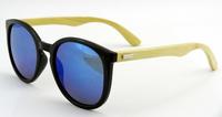 2014 women fashion bamboo sunglasses polarized Revo Coating Mirror Lenses wooden wayfarer oculos de sol bambu de madeira z5858