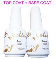 1lot/2pcs NEW Arrival 15ml Base CoatT plus Top Coat For Nail Art Soak Off UV Nail Gel Selina