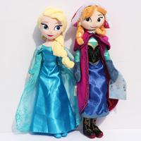 2pcs/lot 40CM Princess Elsa plush Anna Plush Doll Brinquedos Kids DollsToys Baby Toy for Girls Free Shipping