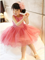free shipping 2015 kids clothing baby girls dress Sequined  princess dress