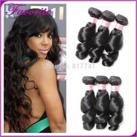 Good Quality Unprocessed Virgin Brazilian Hair Weaves Brazilian Loose Wave Human Hair 3pcs lot Ali Favorite Hair Extension
