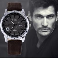 2015 New Quartz Watches Men Fashion & Casual Luxury Leather Watch Elegant Sports Out Door wrist watch hour relogio masculino