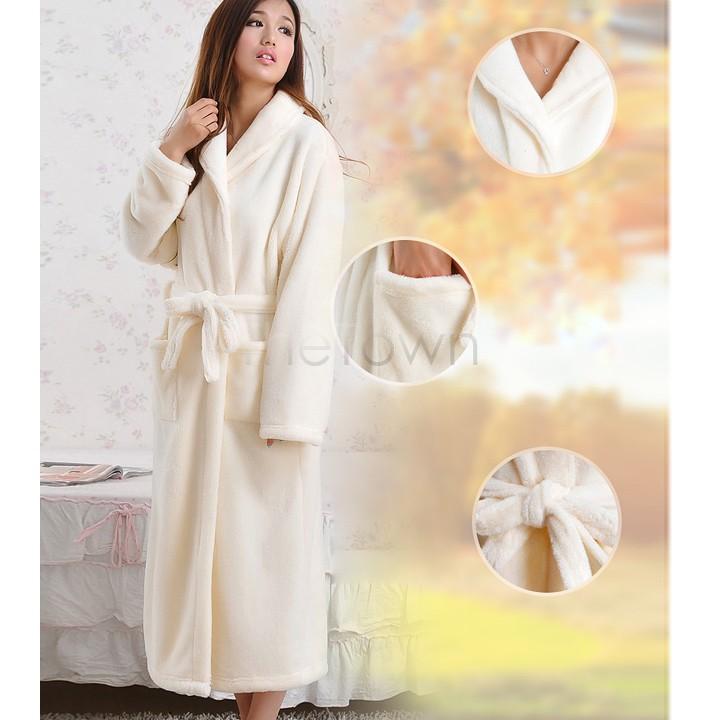 2014 новые зимние широкий длинные рукава женщины халаты воротником ночь платье ватки коралла халат спа шаль мужская 10