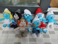 1lot/7PCS Smurfette family DOLL elves papa Clumsy Grouchy Vanity Smurfette cartoon movie Plush Toys birthday Christmas gift