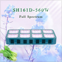 China 560W LED Grow Lights 70w*8 Module Dropshipping Hotselling Full Spectrum 380nm to 850nm Indoor Hydroponic System Plant Lamp