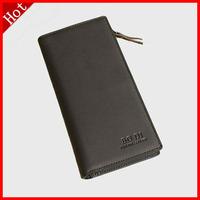 2014 Fashion New Men Wallets Tou Layer Cowhide Folded Long Wallet Zipper Card Package.Brand Wallet.Leather Wallet Purse Men H121