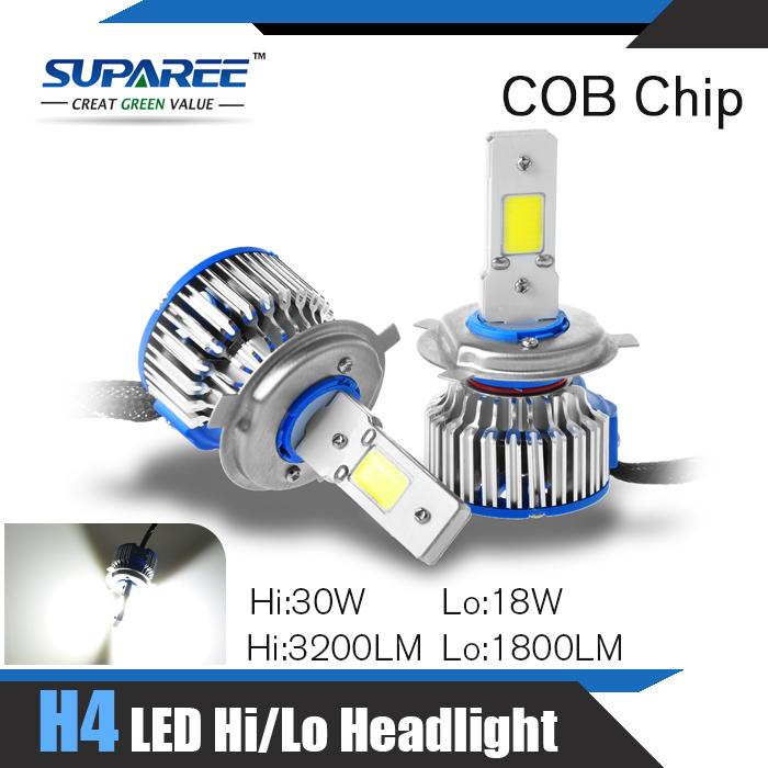 Fashion Mini 1Set H4 LED Headlings Car 12V-24V H