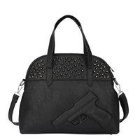 2015 Hot gun bag women &men gun Bag Women Handbag black Rivets Bags Vlieger Vandam Pistol PU Leather  shoulder bag seekers