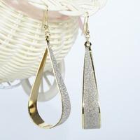 Sunshine jewelry store fashion shinny glitter small and big bending waterdrop dangle earrings for women