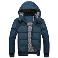 2014 Famous Branded Man's Warm Winter Coat Cotton-padded Winter Jackets Detachable hood Parka man+ Free Shipping