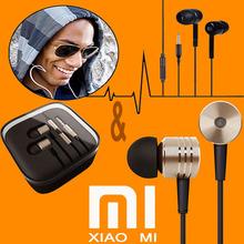 100%Original XIAOMI Earphones Headphones MIC Headsets Stereo 3.5mm Jack Bass In Ear noise isolating Headphones MP4 Android Phone