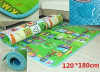 double side children baby play mat  120*180cm ocean happy bear baby gym floor blanket rug tapete infantil tapete para bebe