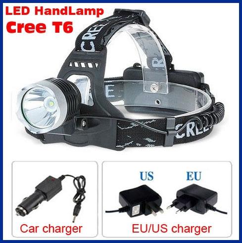 Bright light LED Headlamp headlight cree t6 flashlight Head torch Lamp Ligh 18650 headlamps for Hunting Camping bike+charger(China (Mainland))