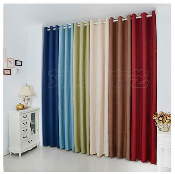 Free Shipping Plain Ikea Ready Made Cotton And Linen Curtains For Living Room Bedroom Curtains