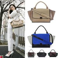 Fashion violetta trapeze Handbag Women  Black And White Clutch Smiley Handbag One Shoulder Bag Messenger City Tote Bag Designer