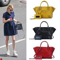 2014 star for mini papier smiley motorcycle bag desigual shoulder bag cowhide leather oil waxing women's genuine leather handbag