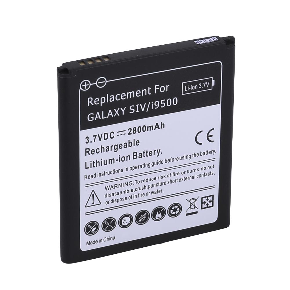 bateria 3.7 v 2800mah e cabo de carregamento usb para samsung galaxy s4/i95