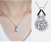 New Genuine TST Fashion Classic Gourd 925 sterling silver zircon  women pendants & necklaces(Exclude chain)