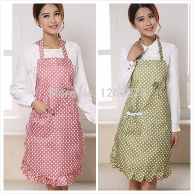 NEW Women LADIES Pretty APRON Bow-knot Vintage Party COOKING Kitchen apron DRESS Bib Apron(China (Mainland))