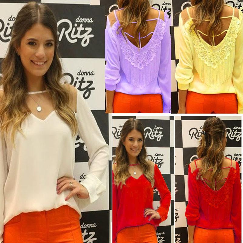 Женские блузки и Рубашки Tassel chiffon blouses 2XL o blusas 01ASY12 2XL  blouse