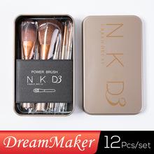 High Sale Wood Nylon Quality 2015 12 Pcs New Nake 3 Brush,nk3 Makeup Brush Kit Sets for Eyeshadow Cosmetic Brushes Tool Wsd1048(China (Mainland))