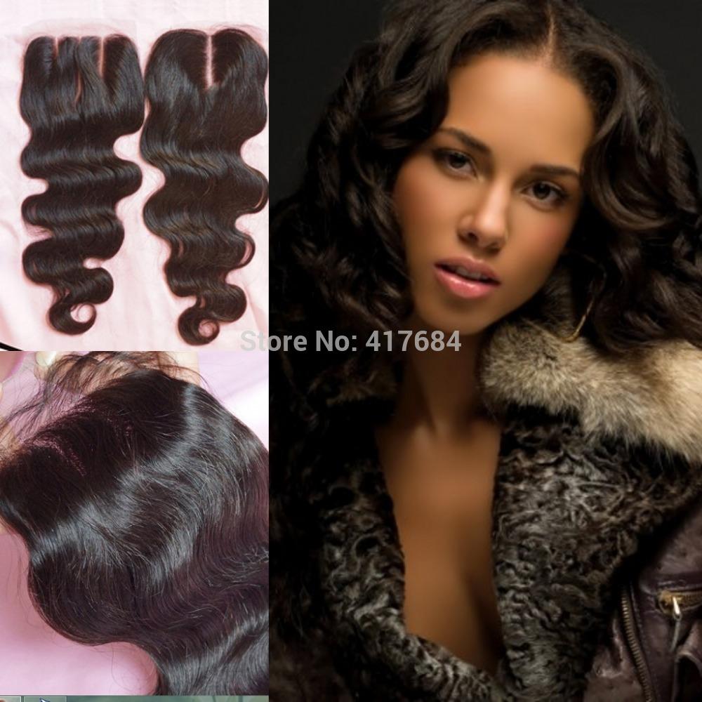 cabelo humano virgem peruana grátis/médio/3 parte seda base encerramento