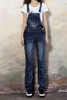 2015 European style Slim jeans jumpsuit cute piece pants