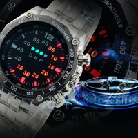 2015 New high quality wrist watch promotional price hot sell LED WATCH mechanic watch top brand