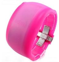 2015 New Unisex Fashion Cool LED Watch Boys&Girls Digital Bracelet Bangle Gift Watches Resin Super Light Smooth Watch