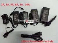 Freeshipping 12V 2A 3A 5A 6A 8A 10A Power Supply Adapter Transformer For 3528SMD LED Light,EU,UK,AU,US plug