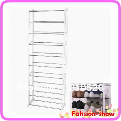 M65 New Design Home 10 Shoe Hanger Boot Organizer Storage Rack Stand Shelf Drop Shipping(China (Mainland))