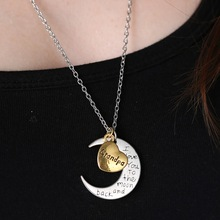 Fashion Letters Necklace I Love You Mother Mom Dad Sister Gift Silver Gold Engraved Letter Pendants