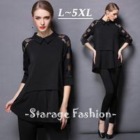 XL-XXXXL Plus size women Sexy Hollow Plaid long shirts Lady high Low Hem Shirt Female Tops 2015 Spring Summer Brand Clothes 1800