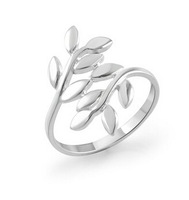 Free Shipping Wholesale Branches and Leaves Love Leaves Self-defense Ring