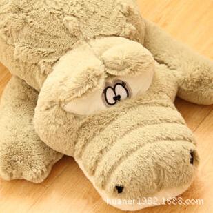 55cm,90cm,105cm Stuffed animals Big Size Simulation Crocodile Plush Toy Cushion Pillow Toys for adults 1piece free shipping(China (Mainland))