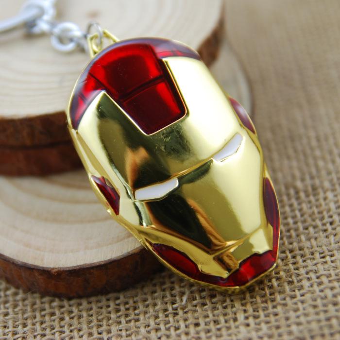 1PCS Marvel Super Hero The Avengers Iron Man Mask Metal Keychain Pendant Key Chains No.666(China (Mainland))
