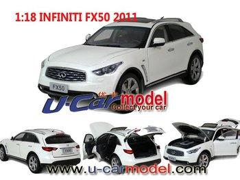 1 pca /lot 1:18 Original  Infiniti Fx50 2011 die-cast Model Car (high quality) White LIMITED