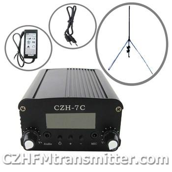 fmuser czh-7c 7w FM stereo PLL transmitter+GP antenna +Powersupply kit  76-108mhz