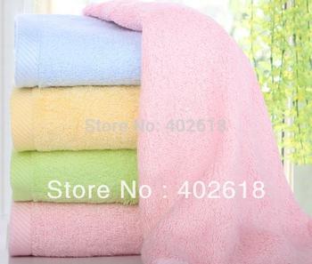 (4PCS/Lot) Towel, Face towel, Size 35x75CM,100%bamboo fiber, Bamboo towel, Super soft, Mix colors